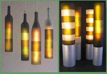 啤酒瓶手工灯具