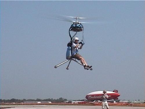 单人双螺旋桨直升飞机