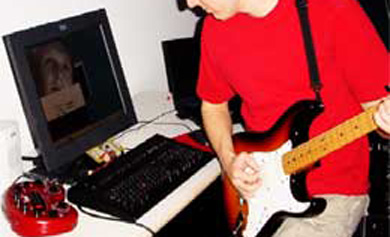 用点头和摇头来控制选择你要的电吉它音效