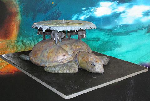 地方说 乌龟大象驼地球