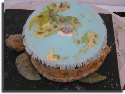 乌龟大象水果结婚蛋糕