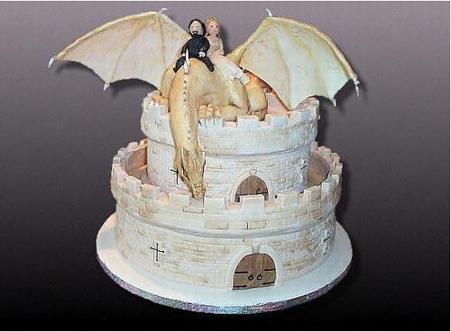 骑士拯救公主蛋糕