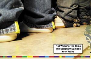 牛仔裤免磨夹