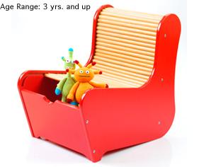 带储物间的椅子