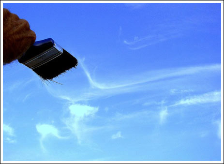 云彩和刷子