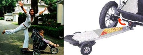 滑板婴儿车