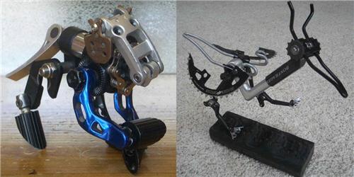 自行车废弃零件改装