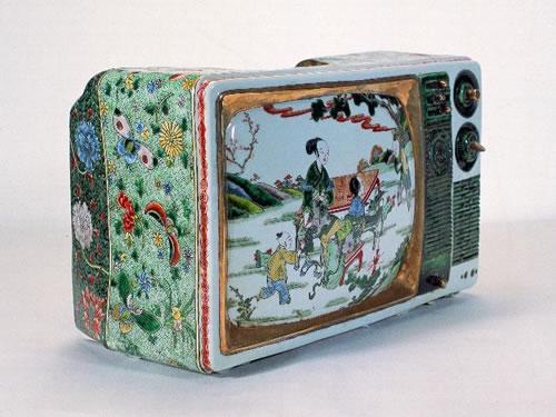 瓷器电视机