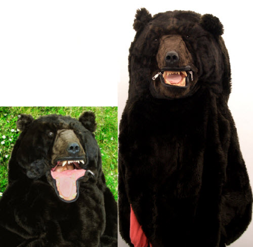 挺可爱的吧,我说那熊睡袋