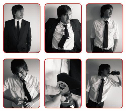 看右上一图,会这样子笑的人=会戴这种领带的人