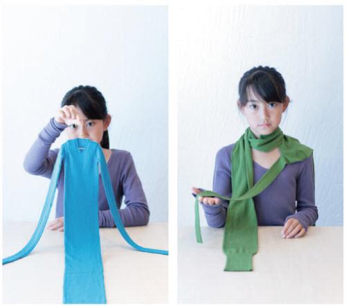 小姑娘真可爱!不过请把注意力集中在那些围巾身上