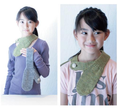 请注意看那个围巾的样式!好可爱的小姑娘!