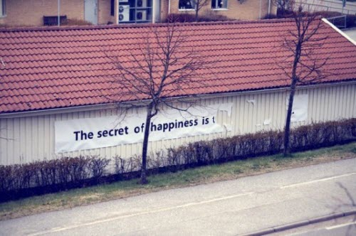 哦,原来幸福的秘密就是什么都不知道什么都不懂