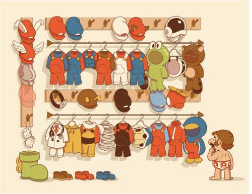 说起来马利吃蘑菇变大,他衣服都不会撑破