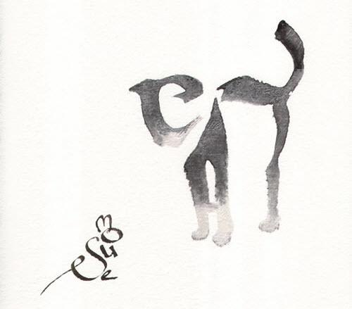 pherd 的字符画,老鼠 M O U S E 猫就是C A T.来源:neatorama  木