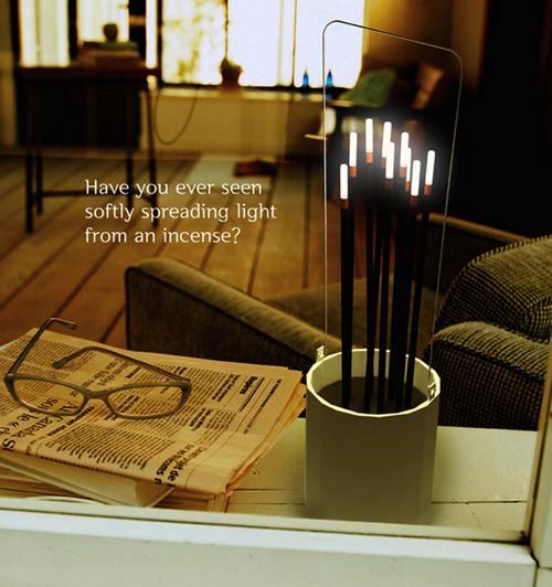 庙里的电蜡烛是个很搞笑的玩意儿