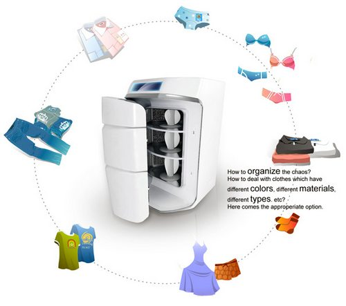 洗衣服的电冰箱