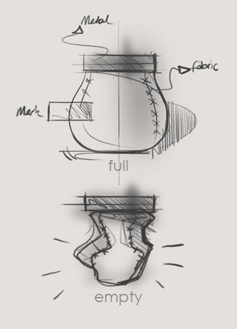 草图上也画了标签,可见它的确是整个设计的重要部分