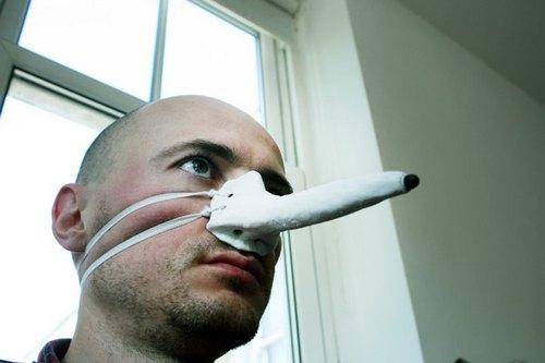 把脸遮住鼻子就像冰河世纪里松鼠橡果狂