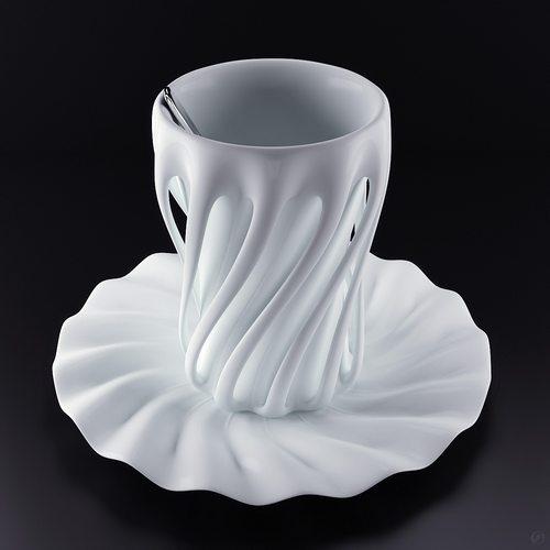 阴影和弧度让这个杯子的身材一级棒啊