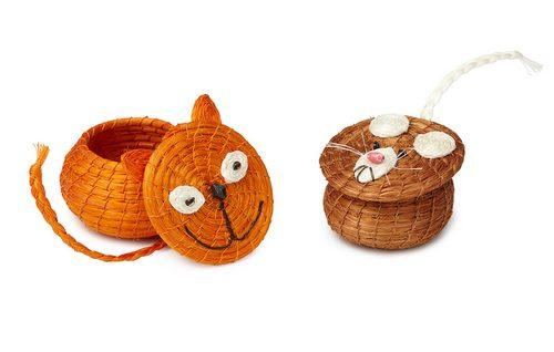 高兴的猫筐和丧气的鼠筐