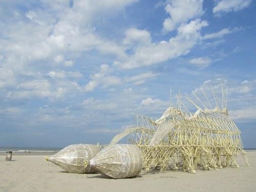 海滩好美。在海边造东西好浪漫。