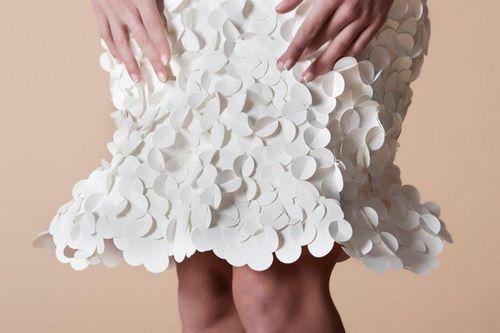好像许多蝴蝶爬(划掉)趴在裙子上