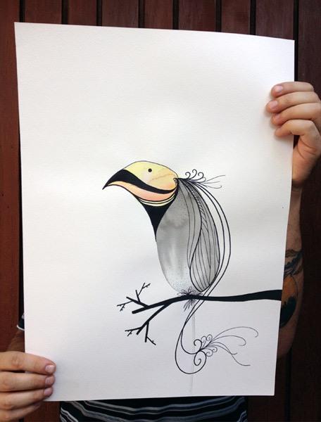 这应该也是一只鸟吧