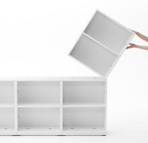 可以想搭积木一样根据需要和办公室的大小随意拼装