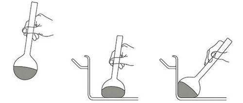 三幅图分别是握着锤子、用锤子压住一条长着前腿的蛇,以及把它的内脏往前挤