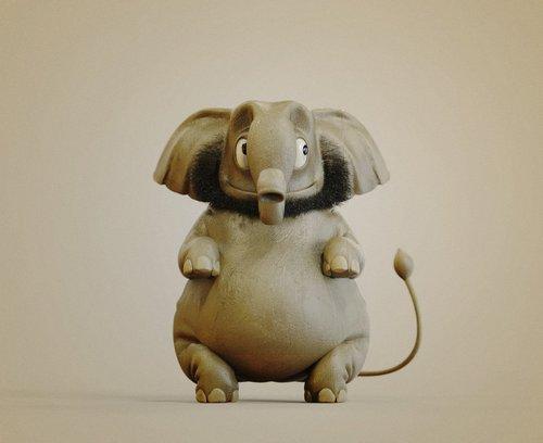 大象尾巴尖端的确有毛,不是长得猪尾巴那样