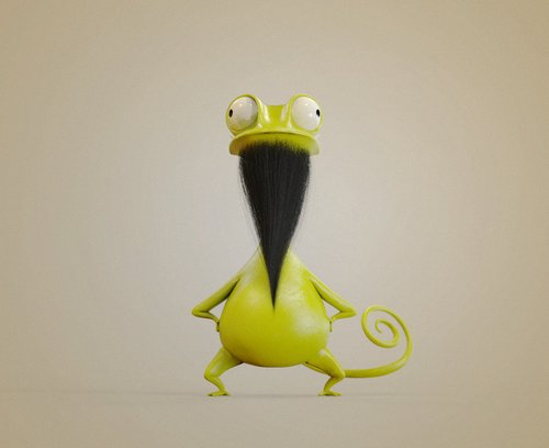 """你是不是困惑""""为什么这只青蛙看起来怪怪的""""?请看图下面那句话"""