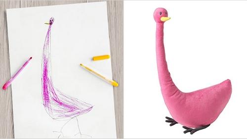我猜小画家从上到下画到最后发现纸不够长,只好随便涂两只短腿上去哈哈